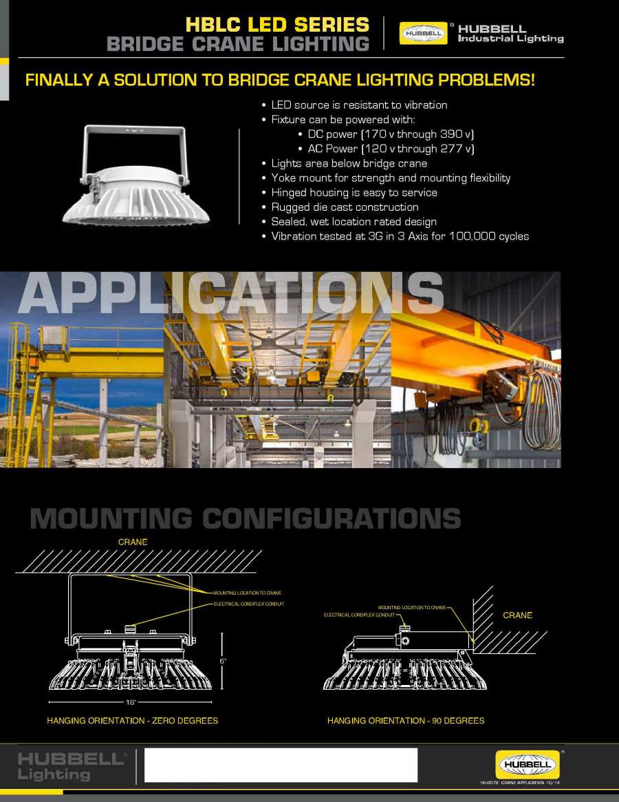 Overhead Crane Lights Led : Hubbelldirect products lighting