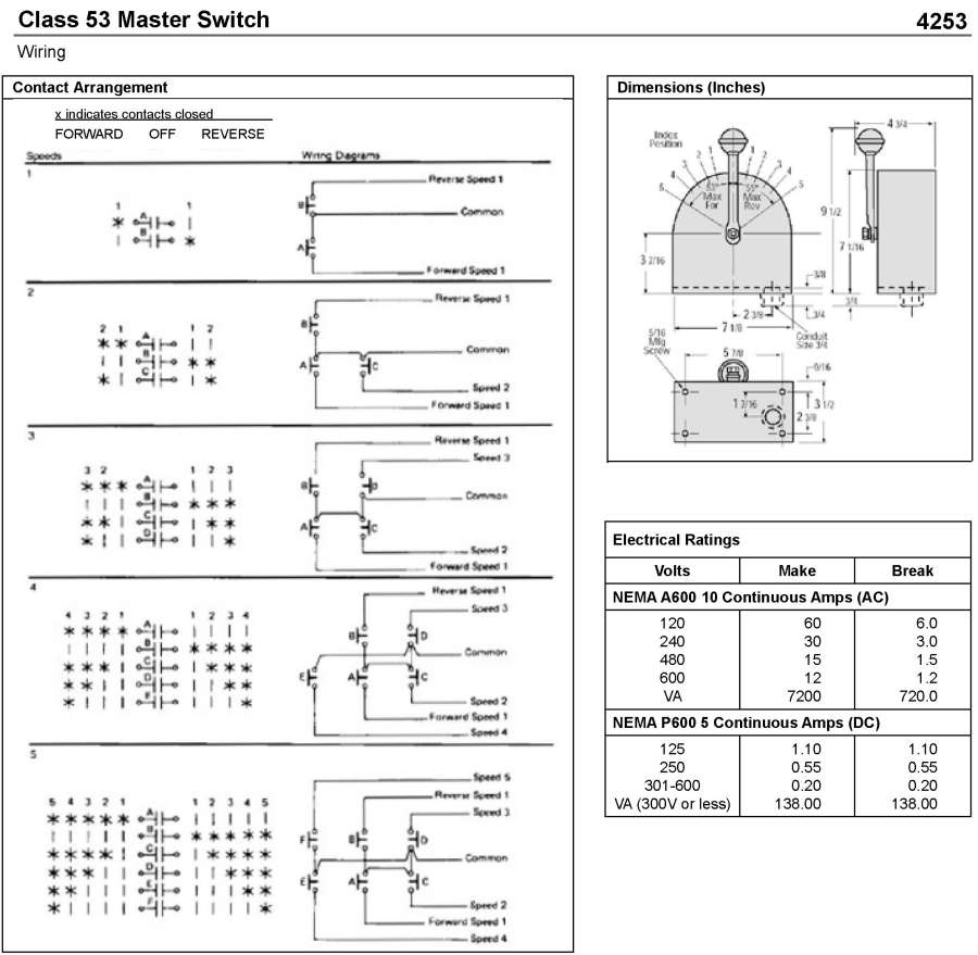 Wiring Diagram Drum Switch : Bremas drum switch wiring diagram rotary